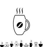 Coffee Cup Black Icon Royalty Free Stock Images