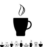 Coffee Cup Black Icon Royalty Free Stock Image