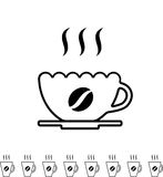 Coffee Cup Black Icon Stock Images