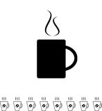 Coffee Cup Black Icon Royalty Free Stock Photography
