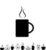 Coffee Cup Black Icon Stock Photos