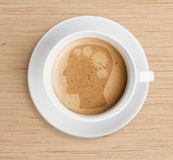 Coffee cup with brain refreshing concept Stock Photography