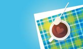 Coffee Cup Break Breakfast Drink Beverage Top View Stock Images
