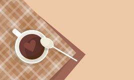 Coffee Cup Break Breakfast Drink Beverage Top View Royalty Free Stock Photography