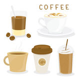 Coffee Cup Breakfast Cartoon Vector Stock Photography