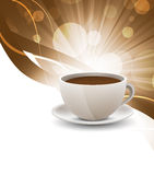 Coffee cup on bright background Royalty Free Stock Photos