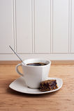 Coffee Cup with brownie - portrait view Stock Images