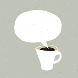 Coffee Cup Bubble Concept Illustration. Vector Royalty Free Stock Photography