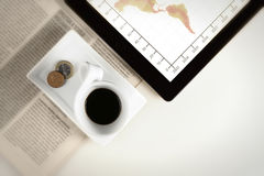 Coffee cup business Stock Photography