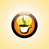 Coffee Cup Button. Vector Coffee Cup Button - see my gallery for more Royalty Free Stock Photo