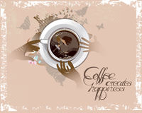 Coffee cup with a cafe. vector illustration