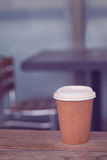 Coffee cup in cafe Royalty Free Stock Images