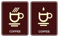 Coffee cup - cafe icon Stock Image