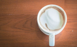 Coffee cup in cafe Stock Photo