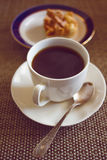 Coffee cup with cake Royalty Free Stock Photo