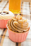 Coffee cup cake Stock Photos