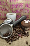 Coffee and Cup Cake Royalty Free Stock Photography