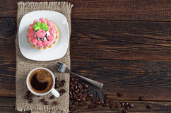 Coffee cup and cake Stock Photography