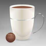 Coffee cup with candy Stock Photo
