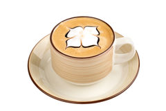 Coffee cup - cappuccino on white background Stock Image