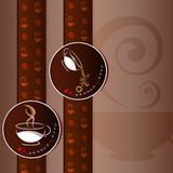 Coffee cup card desings background Royalty Free Stock Photo