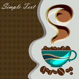 Coffee cup card desings background Royalty Free Stock Photos