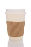 Coffee Cup With Cardboard Protector Royalty Free Stock Photos
