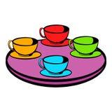 Coffee-cup carousel icon, icon cartoon Stock Photography