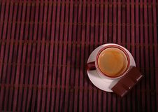 Coffee cup and chocolate on wooden table texture. Coffeebreak.  stock photography