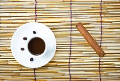 Coffee in cup and cigar Stock Photography