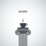 Coffee cup classic design background Royalty Free Stock Image