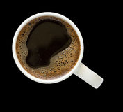 Coffee cup with clipping path Royalty Free Stock Photo