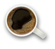 Coffee cup with clipping path Royalty Free Stock Images