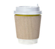 Coffee cup close-up isolated on a white Stock Photo