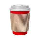 Coffee cup close-up isolated on a white royalty free stock photography