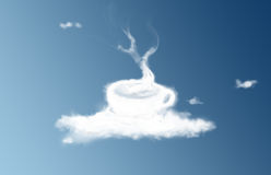 Coffee cup cloud Stock Image
