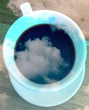 Cloudy coffee cup, photographed in South Africa