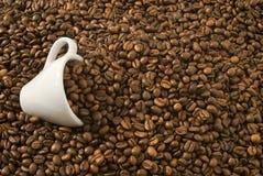 Coffee cup into coffee. A Coffee cup into coffee Stock Image