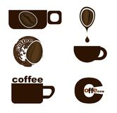 Coffee cup with coffee bean Royalty Free Stock Images