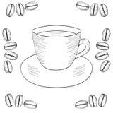 Coffee cup, coffee bean, seed Stock Image