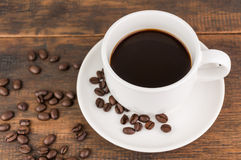 Coffee cup with coffee bean Stock Photo