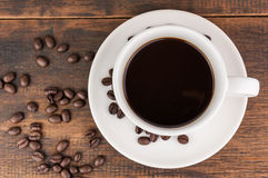 Coffee cup with coffee bean Stock Images