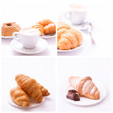 Coffee cup and coffee beans assortment top view collection isolated Stock Photography