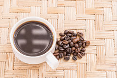 Coffee cup coffee beans. Background Royalty Free Stock Image