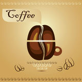 Coffee cup with coffee beans Royalty Free Stock Photo