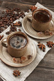 Coffee cup and coffee beans Royalty Free Stock Photography
