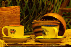 Coffee cup and coffee box Stock Photo