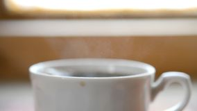 The coffee cup. Background, hd footage stock video footage