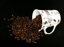 Coffee cup with coffee granule Stock Photography