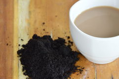 Coffee cup and coffee scrub Royalty Free Stock Photos